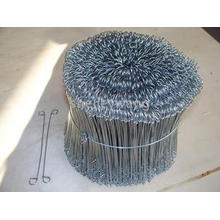 China Galvanized Double Loop Tie Wire/ Bag Tie Wire
