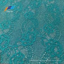 Необычная жаккардовая нейлоновая полиэфирная кружевная ткань с вышивкой