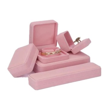 Pink Velvet Jewelry Gift Box Wholesale