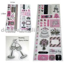 Wedding epoxy sticker set