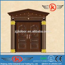 JK-C9038 villa carré décoratif cuivre avant double porte
