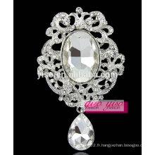 Fashion grands broches en cristal de verre
