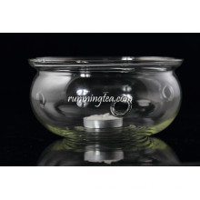 Round Shape Glass Teapot Candle Warmer