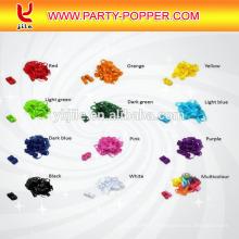 Forme faite sur commande de confettis de papier de soie de confettis de couleur de Pantone dans le rond et le rectangle
