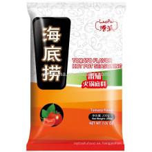 Certificado Halal Condimento de sabor a tomate en una cacerola doble