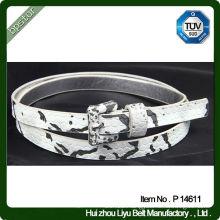 Fancy Print Lady Belt / Animal Skin Print Belt