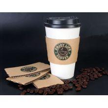 Кофейные чашки из вторсырья с крышками и втулкой