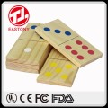 EASTONY Children Fun Game Educational Wood Domino for Kids Wooden Dominoes Set