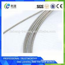 Cuerda de alambre de acero inoxidable de Aisi 304 7x19 4m m