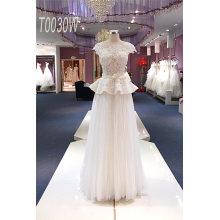 A Line Floor Length Beading Bridal Dress
