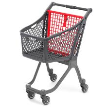 Chariot à provisions en plastique de magasin de supermarché