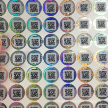 One Time Used Hologram Laser Sticker with Qr Code