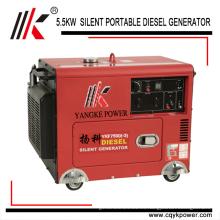 portátil Silent Diesel 7 kva 7.5 kva Lista de precios del generador alternador