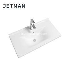 porcelain above counter bathroom basin