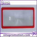 Hot Selling 3X Large Mobile Phone Plastic Card Magnifier