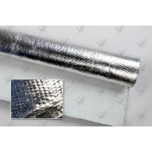 Tissu en fibre de verre revêtu d'aluminium ignifuge