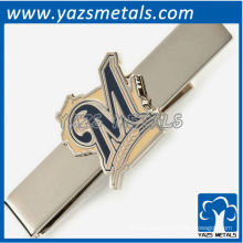 Brewers barra de corbata, por encargo clip de corbata de metal con diseño