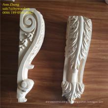 tallado ménsulas de madera grabada capital de madera