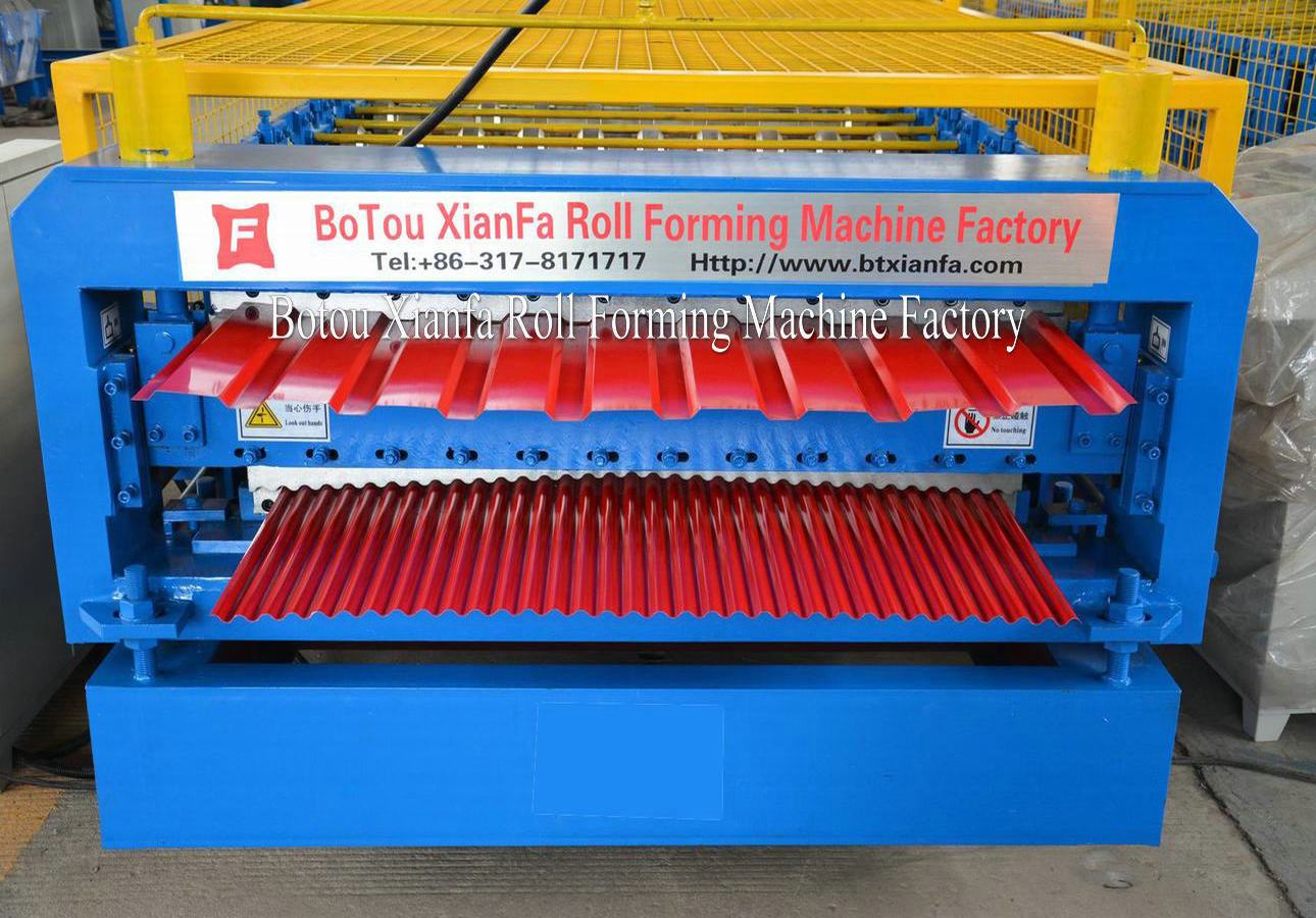 double layer rollformer for roofing tile machine