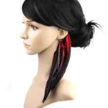 Woman's Ear Cuff Ear Clip Natural Feather Earrings Jewelry FEA51