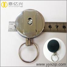 Carretel de tração retrátil de metal personalizado para crachá