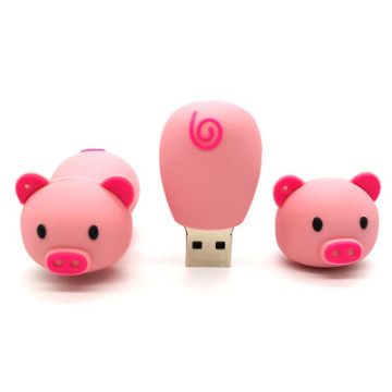 Pen Prive Cartoon Pendrive Pink Pig