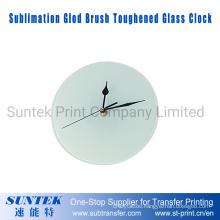 30*30 Sublimation Round Glod Brush Toughened Glass Clock
