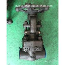 Válvula de porta forjada do NPT da extremidade da linha do aço A105 de API602 800lb