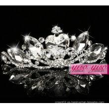 Desfile de la corona de la tiara de la moda de cristal para niños India