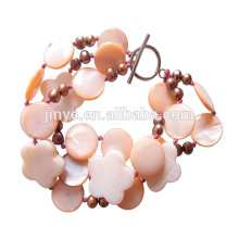 Fashion Sun Beach Shell Fresh Pearl Beaded Bohemian Bracelet