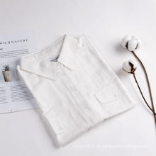 Camisa casual de chaleco sin mangas de estilo contratado de verano