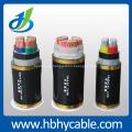 Cable de alimentación blindado 3.6 / 6kv 3 * 95mm2 Cu / XLPE / Cts / Sta / PVC