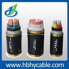 Cable de alimentación de 5 corazones XLPE con conductor de Cu