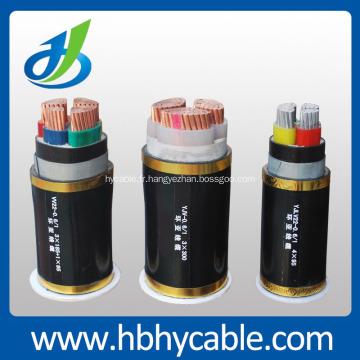Câble d'alimentation blindé robuste XLPE jusqu'à 35KV