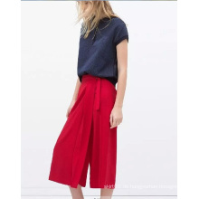 Soem-Herbst-beiläufige hohe Taille lose Frauen-Chiffon- Hose