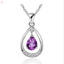 Wholesale Hot Pure Silver Drop Pendant With Crystal