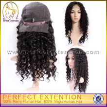 Wholesale Brazilian Human Hair Afro Style Curly Jerry Curl Short Full Lace Wig