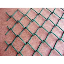 Cerca galvanizada do elo de corrente (malha de fio do diamante), cerca do elo de corrente revestida do PVC