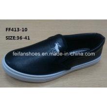Senhora barato slip-on sapatos casuais sapatos de desporto de injeção (ff413-10)