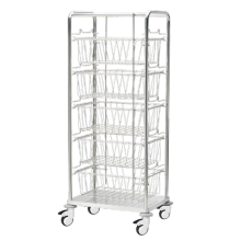 Aseptic Supplies Storage and Transport Mesh Basket Trolley