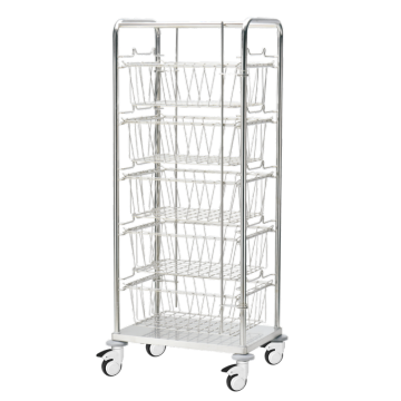 Aseptic Supplies Lagerung und Transport Mesh Basket Trolley