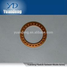 Kundenspezifische CNC eloxierte orange Aluminium Unterlegscheiben