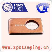 Mutual inductors series stamping parts of square plate