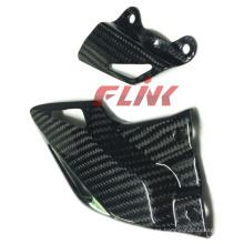 Piezas de la fibra de carbono de la motocicleta Protectores de talón para Honda Cbr 1000rr 08-11