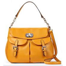 Designer Front Double-Pockets Fashion Lady Handbag (LY0096)