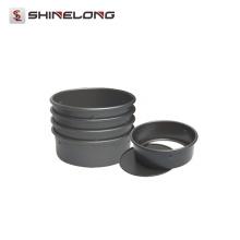 V372 Alodada de Alumínio Anodizado Round Loose Base Cake Pan