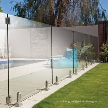 Outdoor Stainless Steel Hardware Tempered Glass Swimming Pool Fence