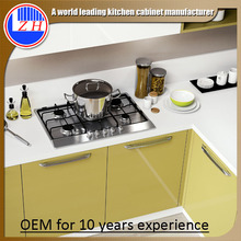 Arandelas de la cocina de la laca con el fregadero Countertop (alto brillo)