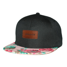 impression promotionnelle personnalisée 6 casquette snapback bébé chapeau avec logo patch en cuir