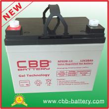 Bateria anti-roubo totalmente vedada 12V38ah do gel do armazenamento do parafuso
